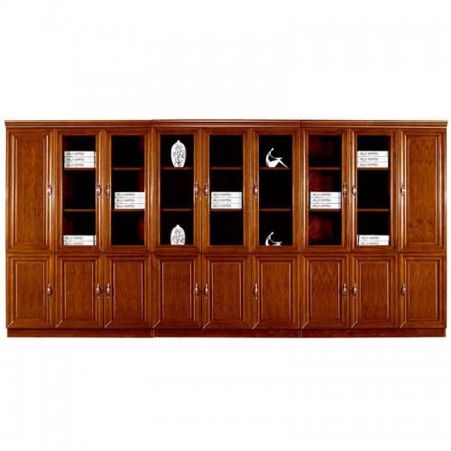 实木文件柜组合办公书柜带玻璃门CY3021-2