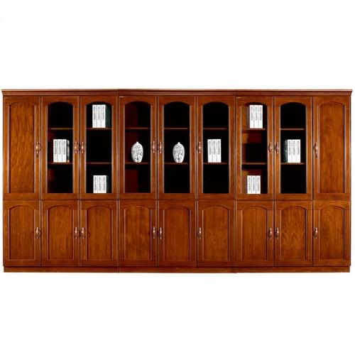 实木文件柜组合办公书柜带玻璃门CY3119-1
