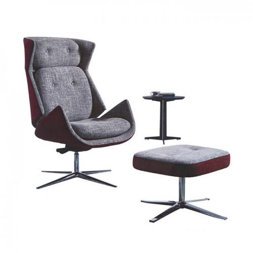 北欧简约布艺办公室沙发休闲椅05