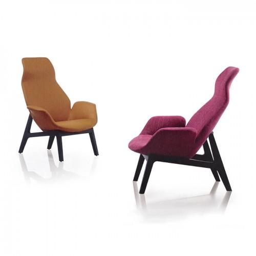 北欧简约时尚布艺办公室休闲椅沙发06