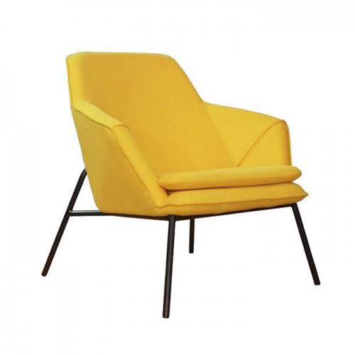 北欧简约不锈钢腿布艺办公室休闲椅接待椅07
