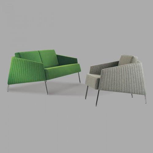 北欧创意时尚不锈钢腿接待洽谈沙发11