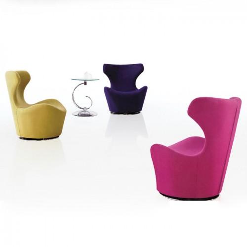 北欧创意办公室高靠背休闲椅接待洽谈沙发椅17