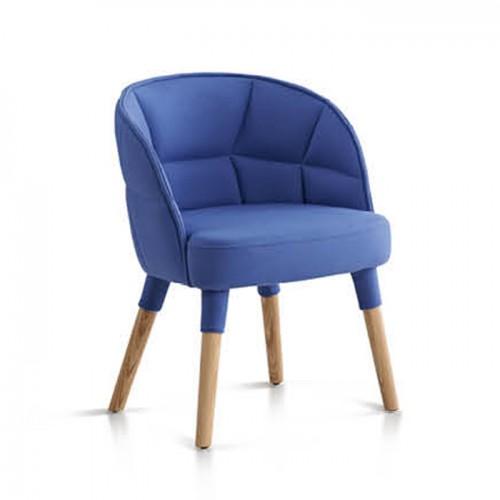 北欧办公室高靠背休闲椅接待洽谈沙发椅18