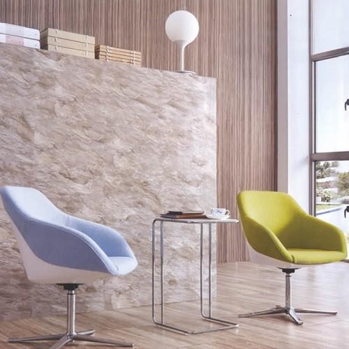 北欧办公室不锈钢腿休闲接待椅洽谈椅23