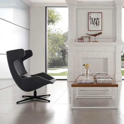 北欧办公室可旋转高背休闲沙发椅24