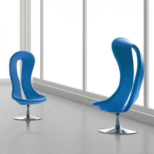 北欧创意办公室不锈钢腿可旋转休闲沙发椅27