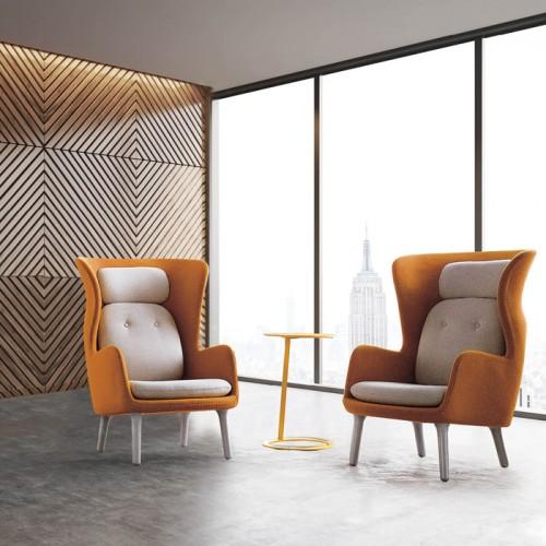 北欧创意办公室高靠背休闲沙发椅接待椅30