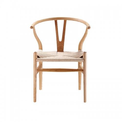 简约现代实木Y椅餐椅办公椅书椅麻绳编制坐垫01
