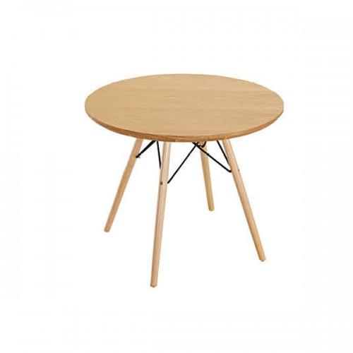 简约创意实木圆形洽谈桌接待桌04