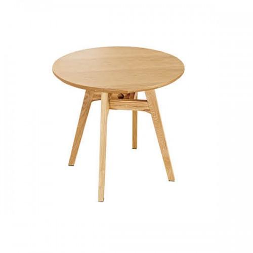 简约创意实木圆形洽谈桌接待桌05