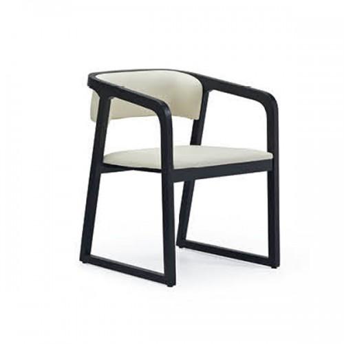 北欧实木办公扶手椅会客椅17