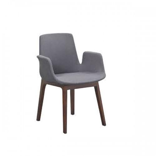 北欧双扶手靠背椅家用休闲椅布艺餐椅子22