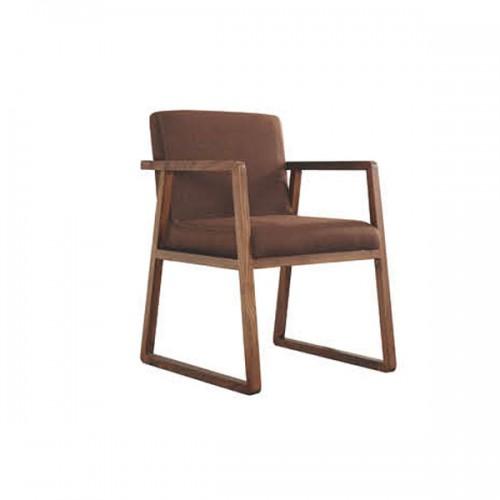 北欧实木会客沙发椅餐椅风格休闲椅23