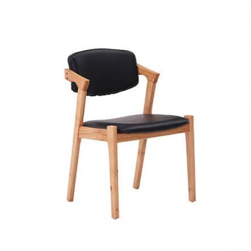 实木休闲椅家用餐椅软包咖啡椅24