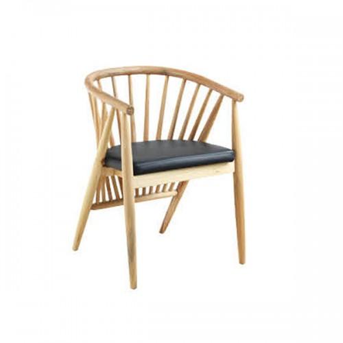 北欧围椅公主椅 实木现代简约餐椅26