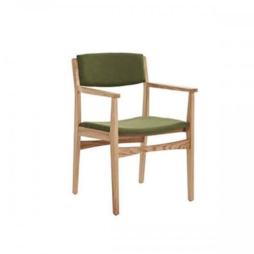 实木现代简约餐椅扶手休闲靠背椅31