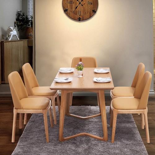 现代简约实木餐桌椅组合36