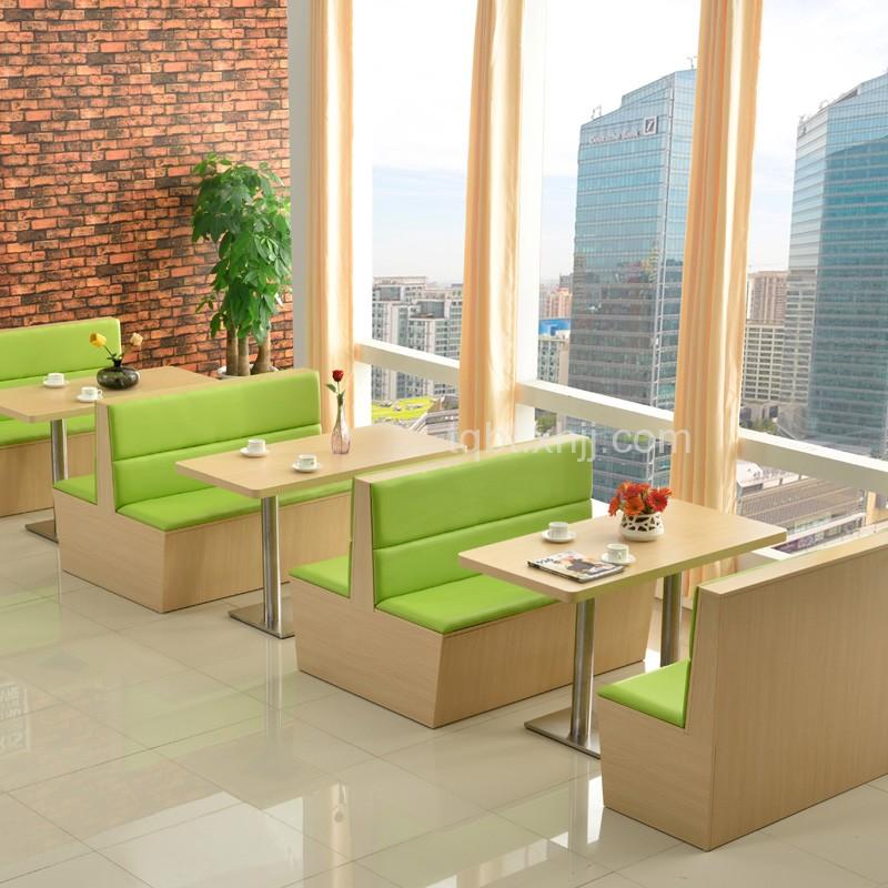 定制卡座沙发桌椅组合冷饮奶茶店现代清新创意咖啡厅简约餐厅座椅