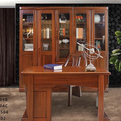 纯实木书桌书柜组合 现代简约风格实木书桌椅两门书柜三门书柜组合_SG504C