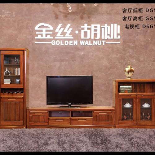客厅高低柜组合电视柜组合 纯实木电视柜高低柜组合 现代简约时尚电视柜组合_DSG504-210