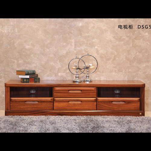 现代简约风格电视柜 纯实木胡桃木电视柜 客厅简约电视柜_DSG504-200