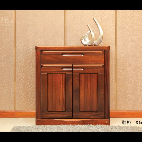 客厅门厅鞋柜 纯实木胡桃木鞋柜 现代简约门厅鞋柜_XG54-96