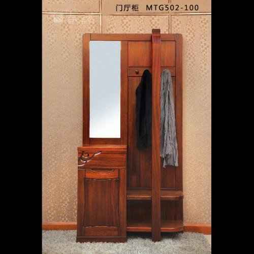 客厅玄关门厅柜 纯实木胡桃木门厅柜 现代简约中式门厅柜玄关柜MTG502-100
