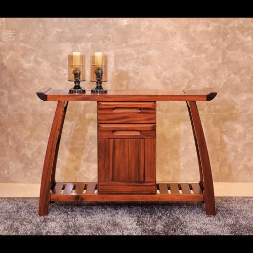 现代简约玄关桌 实木玄关桌  胡桃木玄关桌_XG502