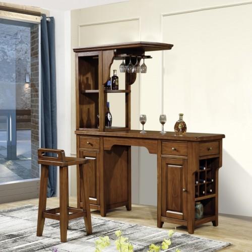 美式吧台吧凳 纯实木吧台 美式涂装吧台 欧美吧台吧凳_MB-841吧台酒柜