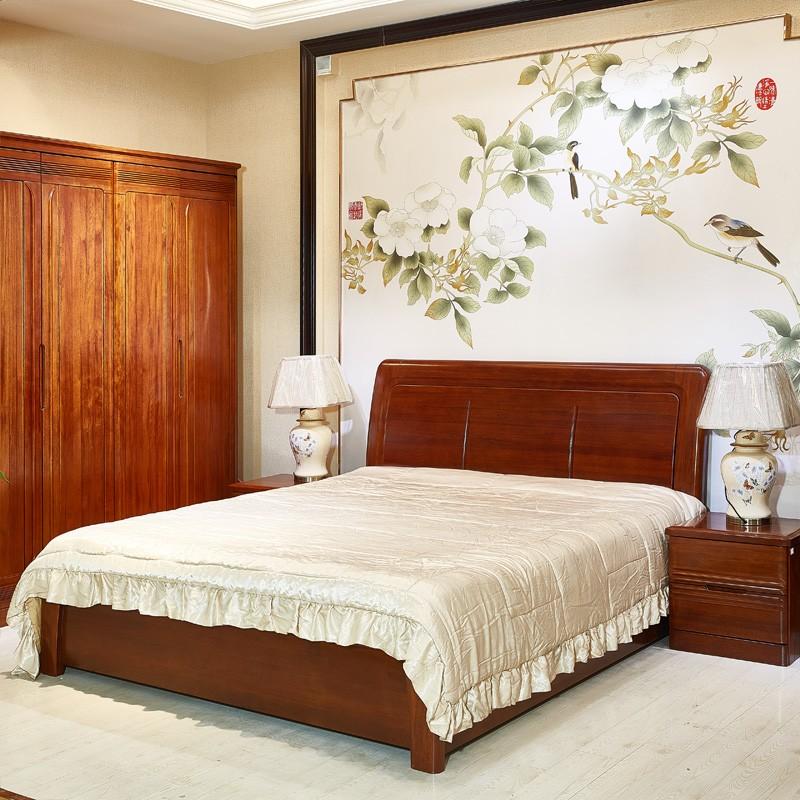 现代简约卧室双人布床14