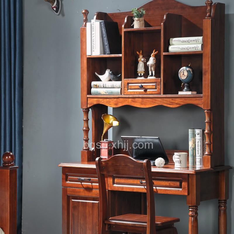 我的e家 实木儿童书桌书架书椅组合03