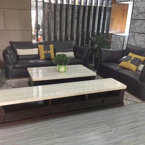 休闲客厅真皮沙发组合