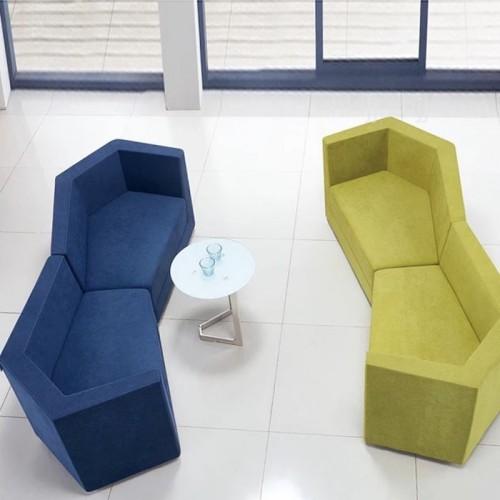 异形创意不规则梯形沙发会客接待休闲沙发 00