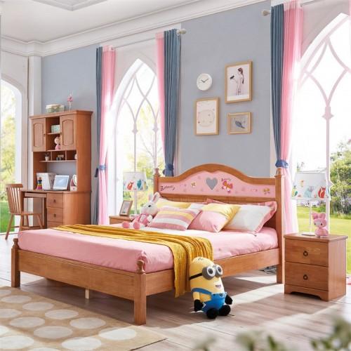 纯实木儿童床1.5米床 北欧风格儿童套房1.5米床三门衣柜学习桌_无题会话03735