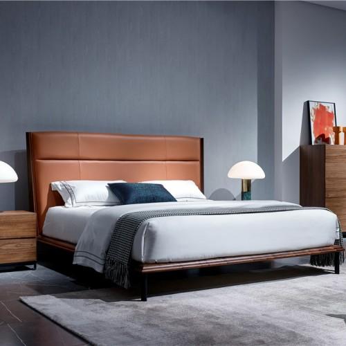 实木软包双人床斗柜 主卧软皮双人床婚床斗柜 现代简约时尚双人床斗柜_1804FKS--JJ57028