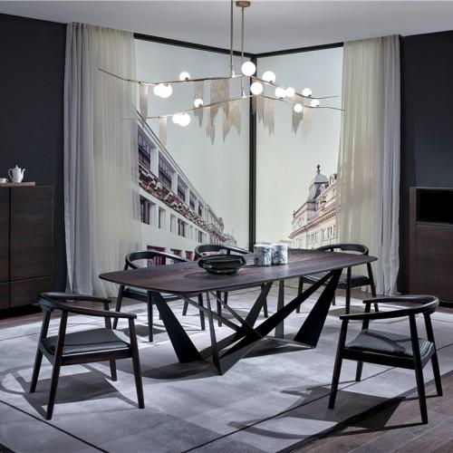 个性长餐桌 时尚简约长餐桌餐椅 德式意式简约长餐桌餐椅_1804FKS--JJ57177