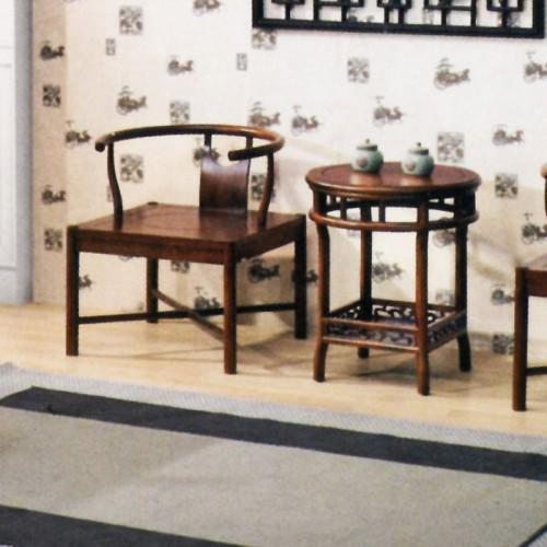 现代橡木茶桌茶椅组合X-032