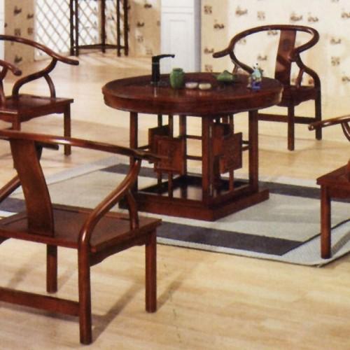 仿古中式茶桌像木茶台组合X-011