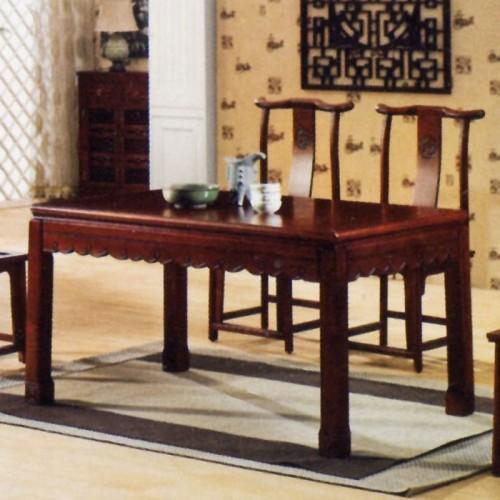 简约中式功夫像木茶台茶桌椅组合X-009