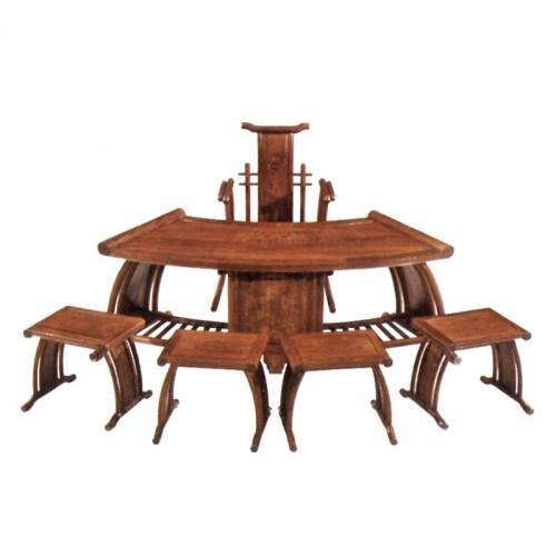 创意实木功夫茶桌椅组合红木茶台H-006