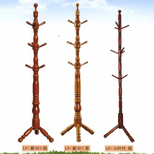 家用简易创意欧式木质衣服架LY-新011 棕