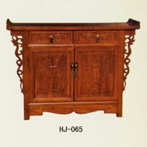 中式仿古典实木储物柜餐边柜 HJ-065