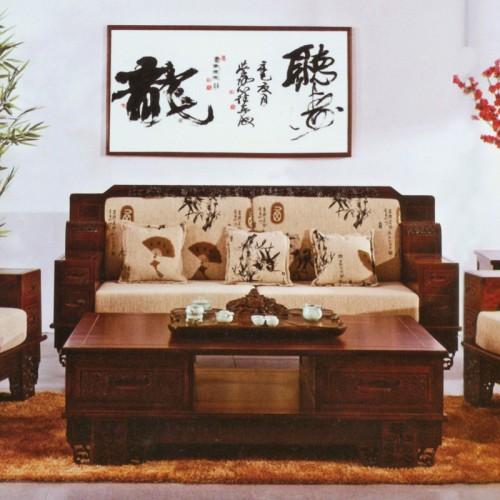 橡木沙发款中式仿古客厅组合    明9