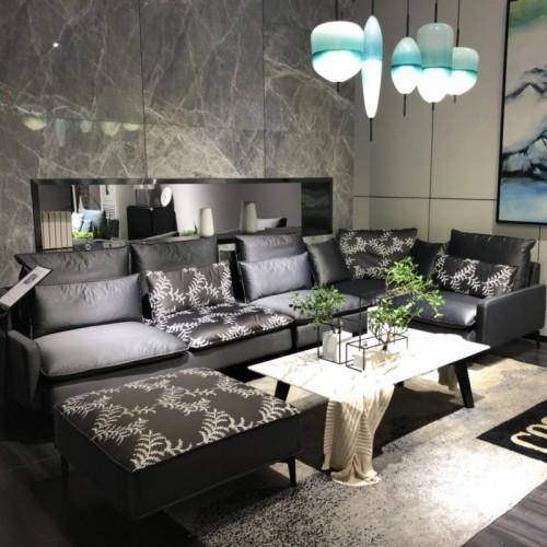 客厅布艺沙发 时尚个性布艺沙发中性布艺沙发 简约客厅布艺沙发_时尚布艺转角沙发单人沙发 客厅灰色布艺转角沙发单人位沙发_6008