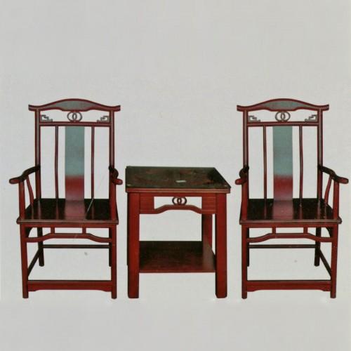 新中式实木椅橡木茶几组合 明6茶几