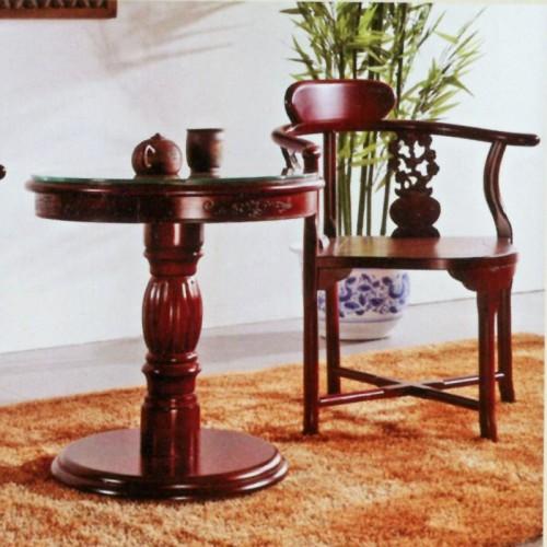 创意实木椅橡木茶几组合 明3茶几