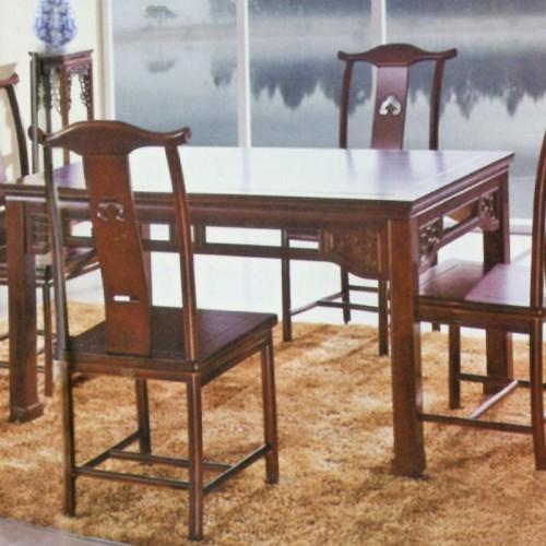 中式橡木家具明清仿古长餐桌 401