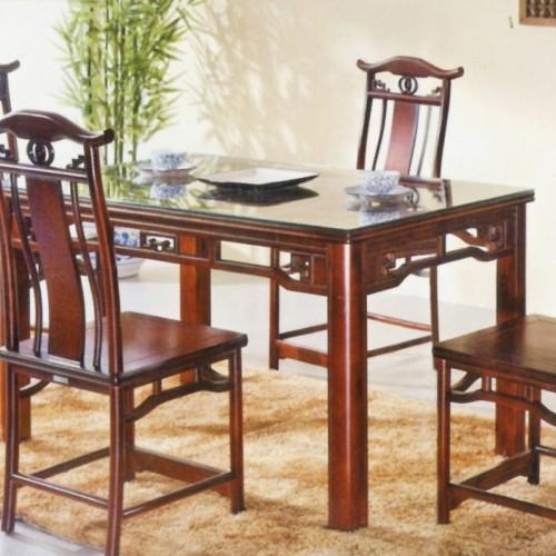 明清古典中式仿古家具橡木实木餐桌 302