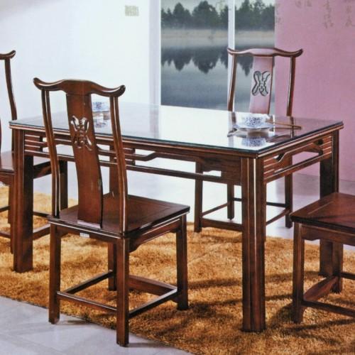 橡木简约长形餐桌 300